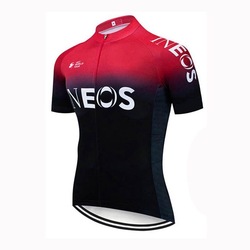 2020 Nuovo INEOS squadra di ciclismo jersey estivi uomo breve manicotto della camicia moto sport all'aria aperta traspirante top uniforme bicicletta Y030901
