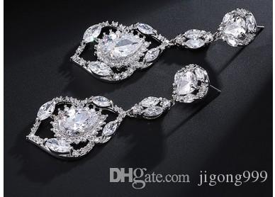 멋진 925 실버 더 많은 컬러 다이아몬드 크리스탈 여성의 earigns (33.07rtrt