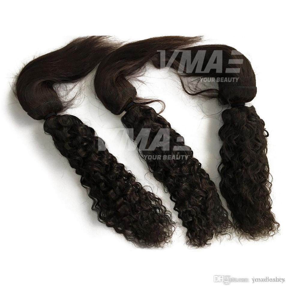 Virgen brasileña de la onda de agua trenza trenza en paquetes en los tejidos de extensión 3 del pelo humano del procesado de lotes Cabello Top Calidad 10 a 28 pulgadas