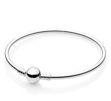 Original brazalete de la plata esterlina 925 de la bola de cierre circular clip de la joyería pulsera brazalete adecuado Fit Pandora Mujeres del encanto del grano de bricolaje Fahsion