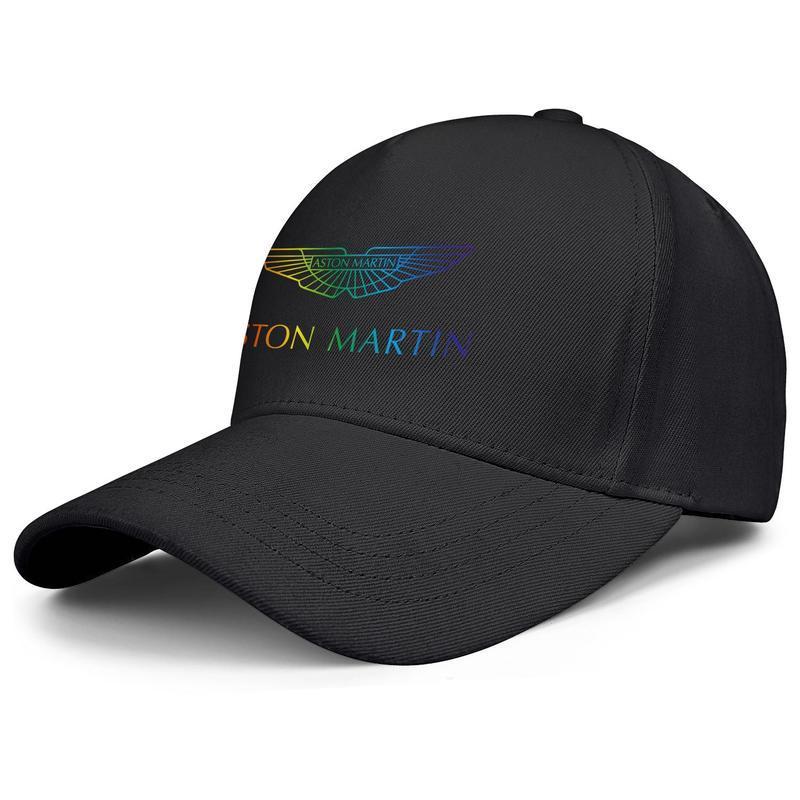 Aston Martin Sports car Gay pride rainbow Mens Women Adjustable Snapback Cap Fashion Golf Hats Station wagon Camouflage