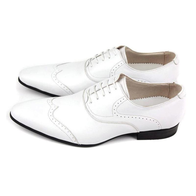 Neue Schwarz Weiß Helle Lackleder Herren Forms Carving Brogy Man Büro Party Hochzeitskleid Schuhe Oxfords Lace Up Plus Größe