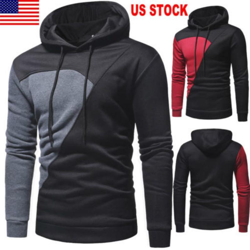 Plus Size Hommes Sweats à capuche Veste d'hiver printemps Sweat à capuche avec cordon de serrage Haut Homme manches longues Pull à capuche Manteau de poche