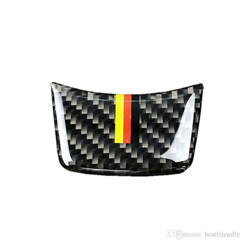 Steering Wheel Car Sticker Carbon Fiber Steering Wheel Trim Sticker for Audi A4L A6L A3 Q3 Q5 Q7 Car Styling Accessories
