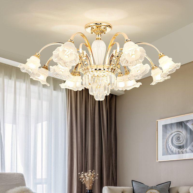 European Chandeliers New Living Room Pendant Lamp Modern Minimalist Home Crystal Lamp Atmospheric led Net Red Restaurant Chandelier Lighting