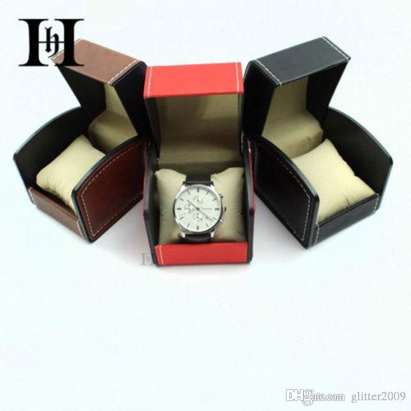 Scatole per orologi in pelle PU di alta qualità Scatola di immagazzinaggio Scatola per imballaggio regalo Scatola per orologio