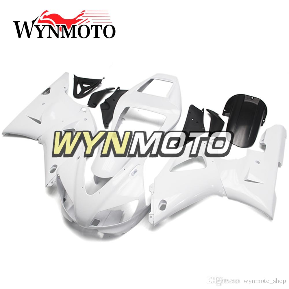 Full Pearl White Motorcycle Fairings For Yamaha YZF 1000 R1 1998 1999 ABS Plastic Injection motorbike Kits cowlings covers