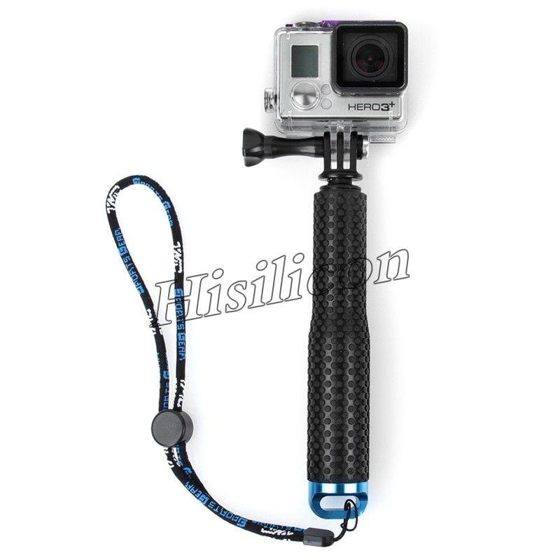 30 pcs Alta Qualidade 48 cm Protable GoPro Hero3 + 3 Selfie Vara 4 Cores Monopé À Prova D 'Água Com Pacote de Varejo