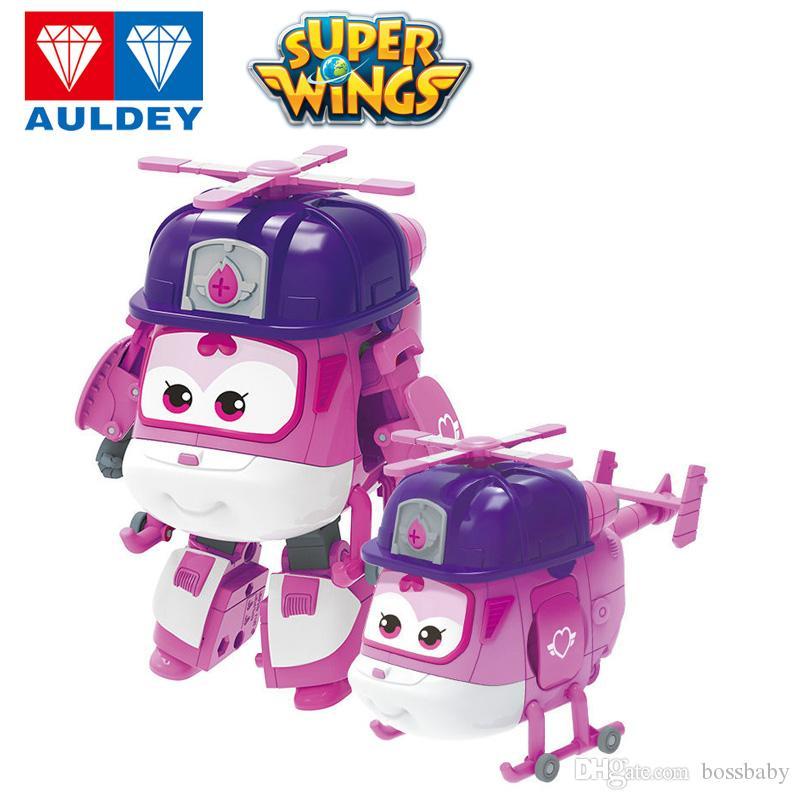 AULDEY super ailes Cartoon Robot Jett Dans la police Dizzy Rescue Figurines Enfants Designer Marque Jouets Desform Enfants Noël Cadeaux 04