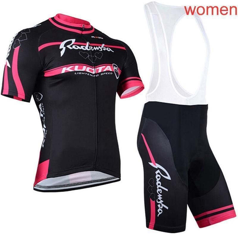 2020 Kuota Team Women Cycling Jersey Mtb Bike Shirt Bib Shorts Suit Summer Quick Dry Racing Bicycle Clothing Outdoor Sportswear Y030104
