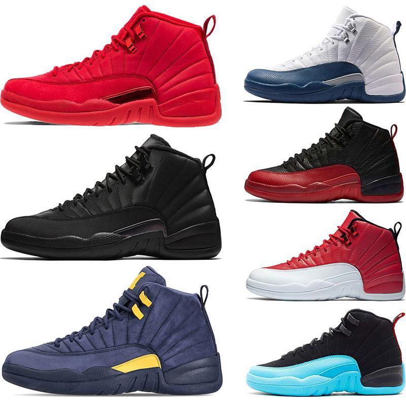2020 scarpa da basket Winterized Wntr Palestra Red Michigan Bordeaux 12 Bianco Nero Il Master Flu gioco Taxi uomini di sport della scarpa da tennis formatori Size 7-13