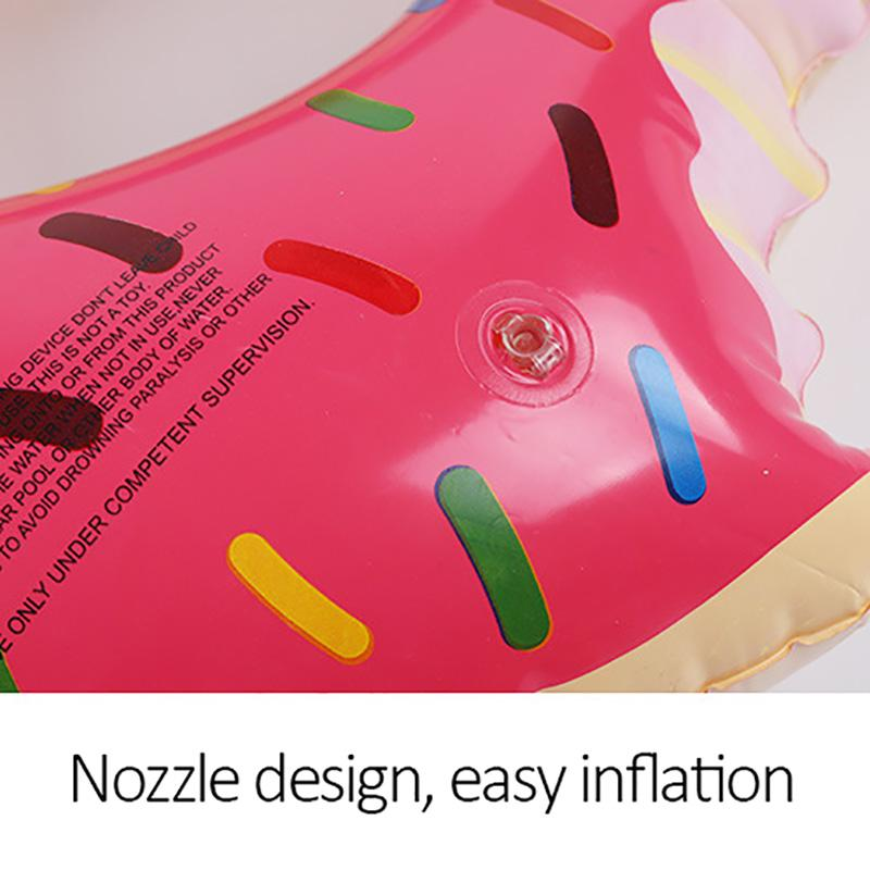 Inflatable Donut Swimming Ring Pool Float Mattress Swimming Pool Thickened PVC Summer Beach Floating Ring Seat Toys Circle