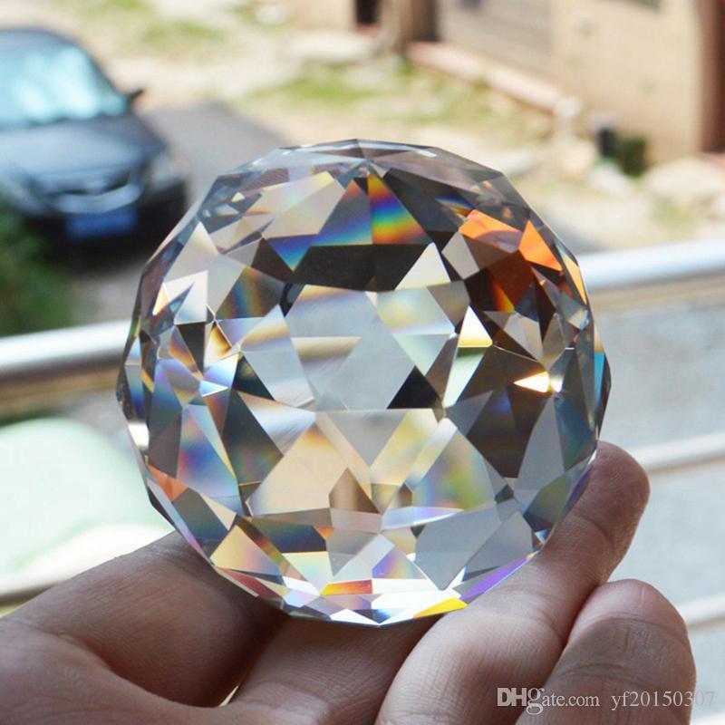 6 سنتيمتر كريستال كرات الكوارتز الكريستال المجال زجاج الأوجه الكرة الأحجار الطبيعية المعادن فنغ شوي تزيين المنزل