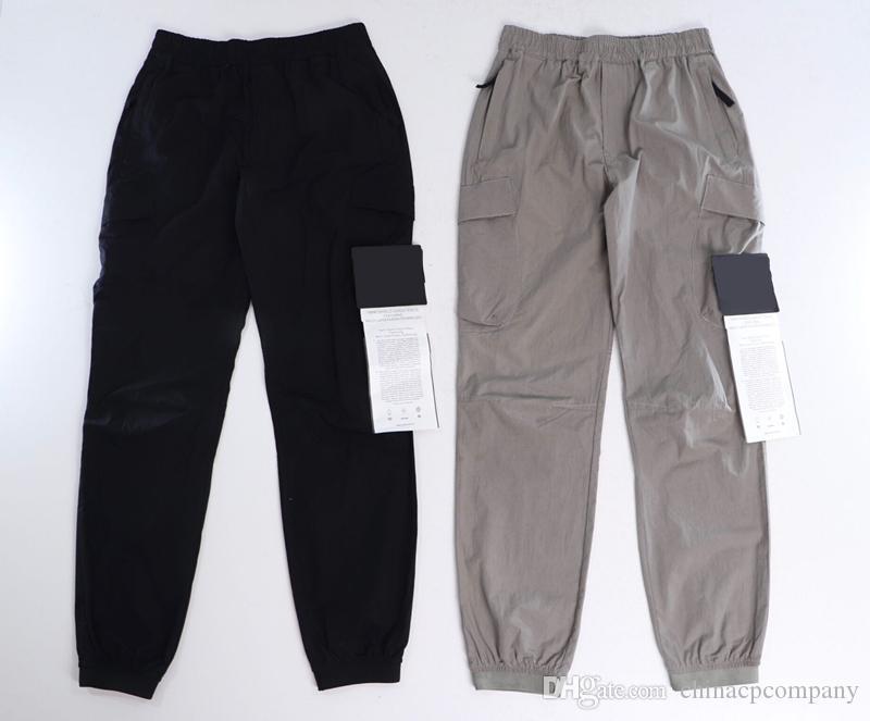 Calças de cor sólida konng gonng multi grande bolso macacão calças primavera e verão Nova marca de moda retro homens jogging leggings homens
