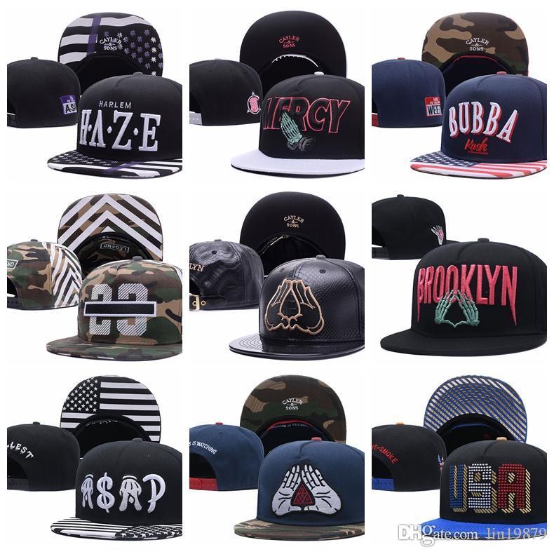 Cayler Sons camo Beyzbol Kapaklar HAZE MERCY BUBBA 23 BROOKLYN ASAP ABD Hip Hop Snapback Şapka Kemikleri Aba Reta Touca Gorras Planas Casquette