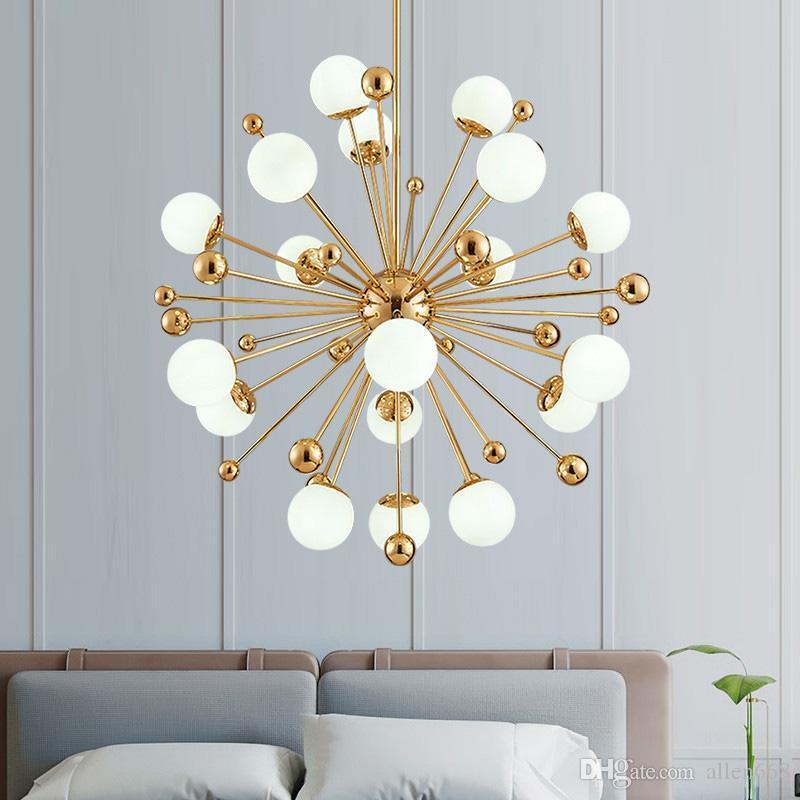 lámpara de techo de haba mágica lámpara LED lámpara colgante de diente de león nórdica para la sala accesorios de iluminación comedor dormitorio luminiare