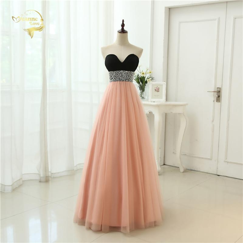 Sexy Low Cut Prom Gown Vestidos Sweetheart Beading Crystal Tulle Evening Gown A Line Formal Long Evening Dresses 2019 OL3356