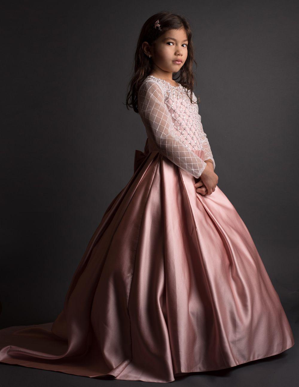 Pageant Flower Girl Dress Kids Wedding Bridesmaid Gown Formal Dresses UK Stock