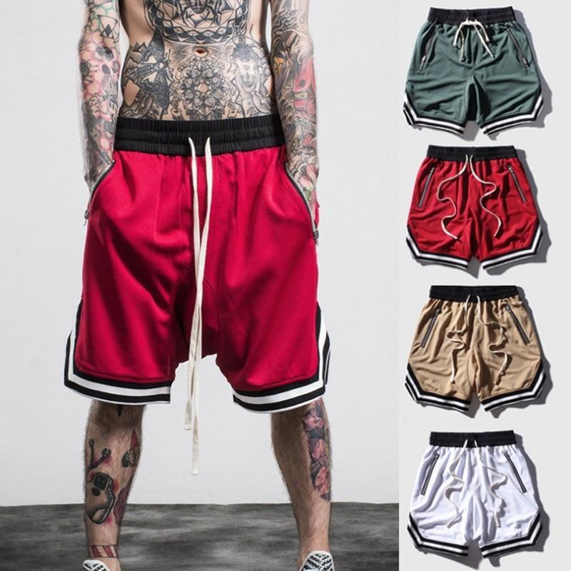 Fashion-ZOGAA Erkekler Basketbol Şort Ince Kesit Nefes Spor Çabuk kuruyan Spor Koşu Eğitim Erkekler Spor Kısa Pantolon S-5XL
