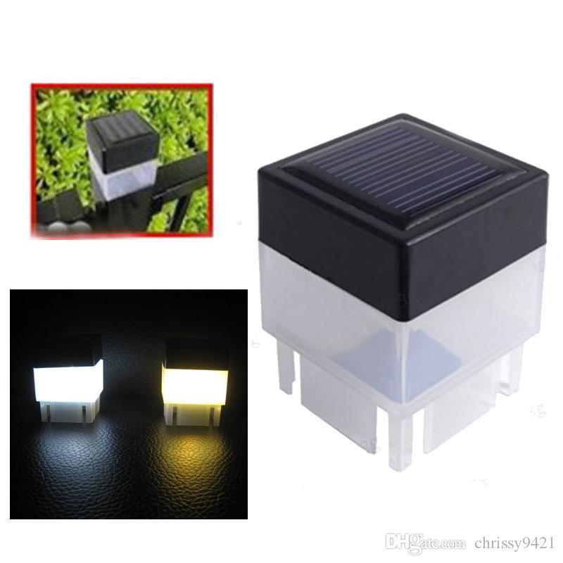 2x2 Solar Post Cap Luz Quadrado Pillar Pillar Solar Luz para Ferro Fechado Fencendo Frontal Quintais Portão Paisagismo Residencial
