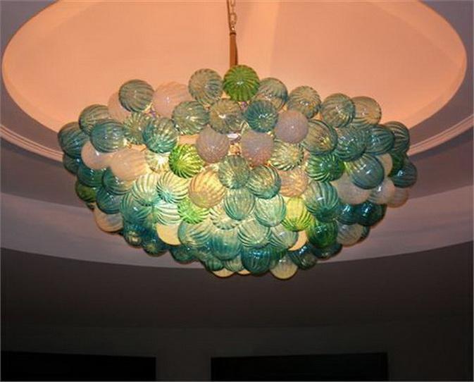 Современный муранского стекла пузырь люстра Бесплатная доставка 110/220 В AC светодиодные корабля дома роскошь свет современный стекло