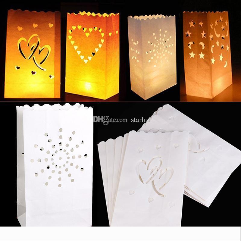 Mariage Coeur Lumignon Porte Joyeux anniversaire Lampion sac Bougie romantique Fête de Noël Fête Fournitures Décoration WX9-843