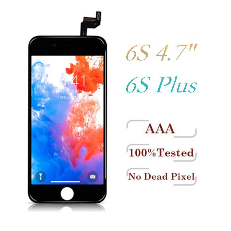 Sınıf A + + + LCD iPhone 6 S 6 S Artı Ekran Dokunmatik Digitizer Çerçeve Meclisi Onarım Parçaları + 1 Yıl Garanti