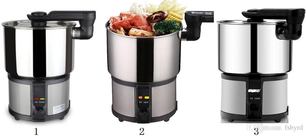 Dupla voltagem Mini viajar fogão eléctrico 110V | 220V portátil copo elétrica dormitório cozinhar pote pequeno Hot pot 450W converter manualmente tensão
