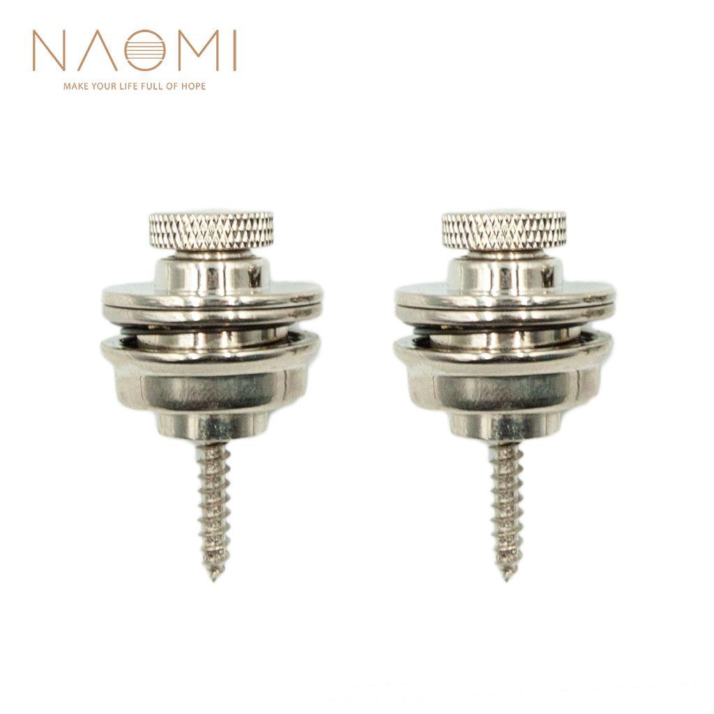 NAOMI 2 Adet / takım Akustik Gitar Gitar Askı Kilit Askısı Düğmesi / Elektro Gitar Bas Gitar Parçaları Aksesuarları Yeni