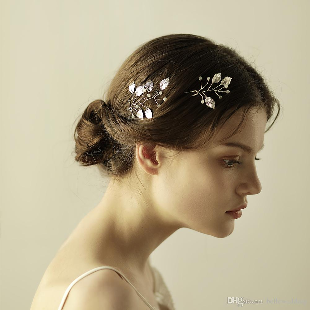 2019 New Wedding Headpieces Hair Accessories With Beads Leaves Women Hair Jewelry Wedding Tiaras Crowns HP850