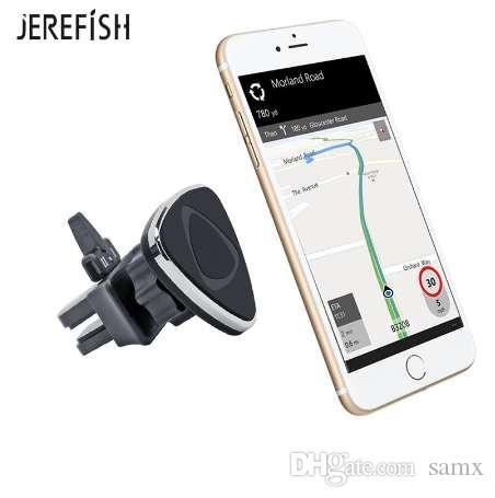 JEREFISH Araç Telefonu Tutucu Manyetik Hava Firar Dağı Mobil Akıllı Telefon Mıknatıs Destek Ünitesine Standı