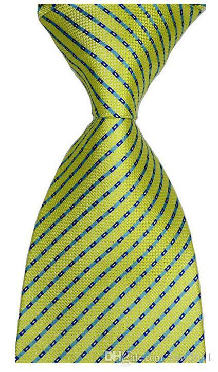 Cravatta GZ326826 New Classic Yellow JACQUARD Uomo seta tessuta