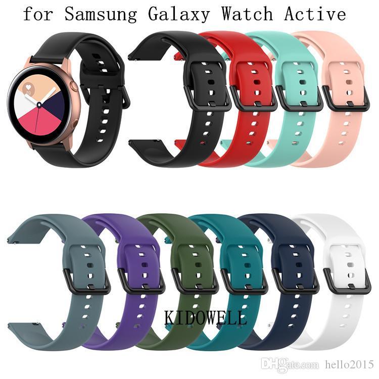 20mm Silikonarmband für Samsung Galaxy Uhr Active R500 42mm Gang S2 Sport Huami Amazfit BIP Ticwatch 2 Ersatz Armband Band Strap