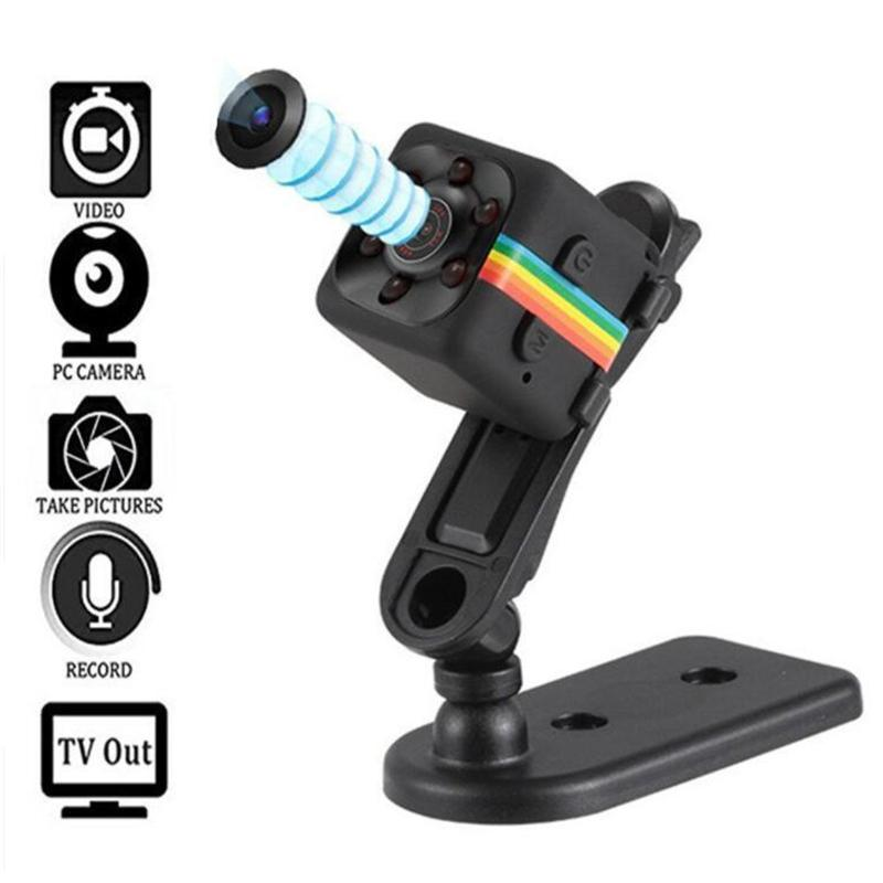 20PCS Hot 1080P 960P Mini HD Digital Camera Infrared Night Vision Outdoor Aerial Camera DV Video Car Driving Record SQ11