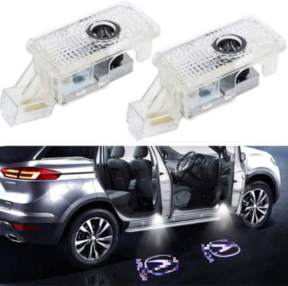 Porta de Carro LED Logo Projector Santo Sombra Luzes, Wireless Não Perfurar tipo LED Cortesia luzes passo