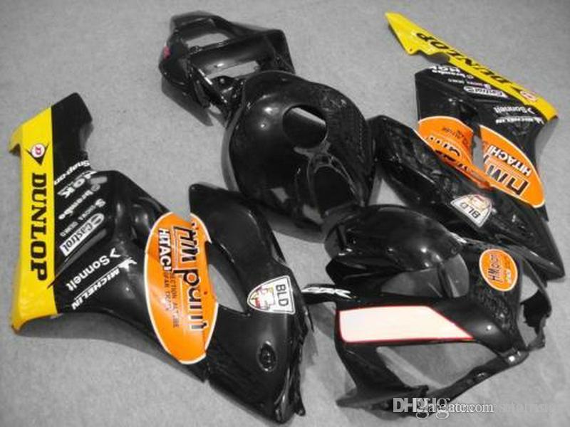 Moldes de inyección personalizados y gratuitos Carenados para Honda CBR1000RR 2004 2005 amarillo negro carenado CBR 1000 RR 04 05 FD16