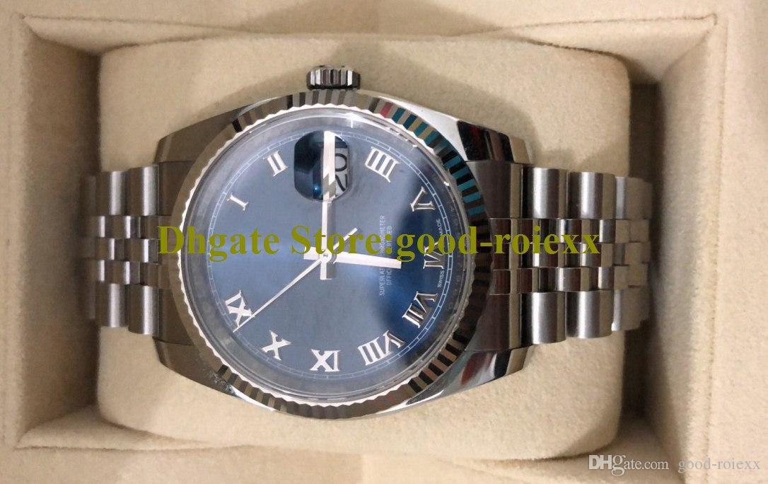 36mm homens da Ásia Automática Crown Watch Mens Data 126333 126300 126334 126333 116334 Relógios Jubileu Pulseira Perpétua relógios de pulso