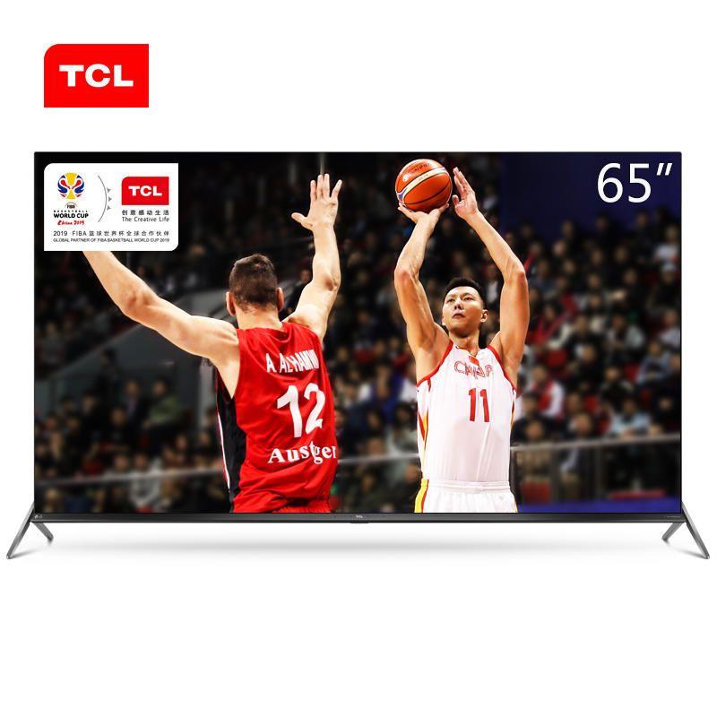TCL da 65 pollici in metallo ultrafine movimento scossa prova completa scena AI TV HD Ultra 4K + HDR TV libera il trasporto