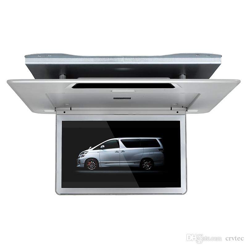 Top quality 13.3 inch ultra slim car roof mounted monitor 1920x1080 mp5 Player USB SD FM IR 1080P video HDMI flip down for Toyota Alphard