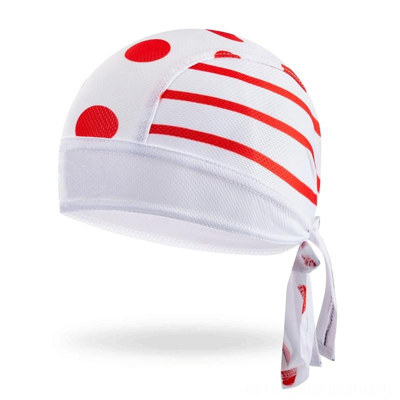 MIMRAPRP Quick Dry RED Cap Head Scarf Summer Men Running Riding Bandana Headscarf Ciclismo Pirate Hat Cycling Protective Gear Cycling Hood H