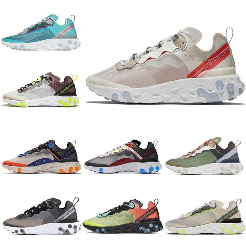 New Running Shoes React Element 87 for men women Royal Tint Orewood Hyper Fusion Anthracite Light Bone Mens Trainer Sports Sneakers 36-45
