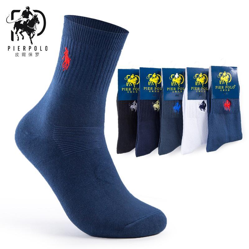 높은 품질 패션 5 쌍 / 많은 브랜드 PIER 폴로 캐주얼 코 튼 양말 비즈니스 양말 자 수 남자 제조업체 도매