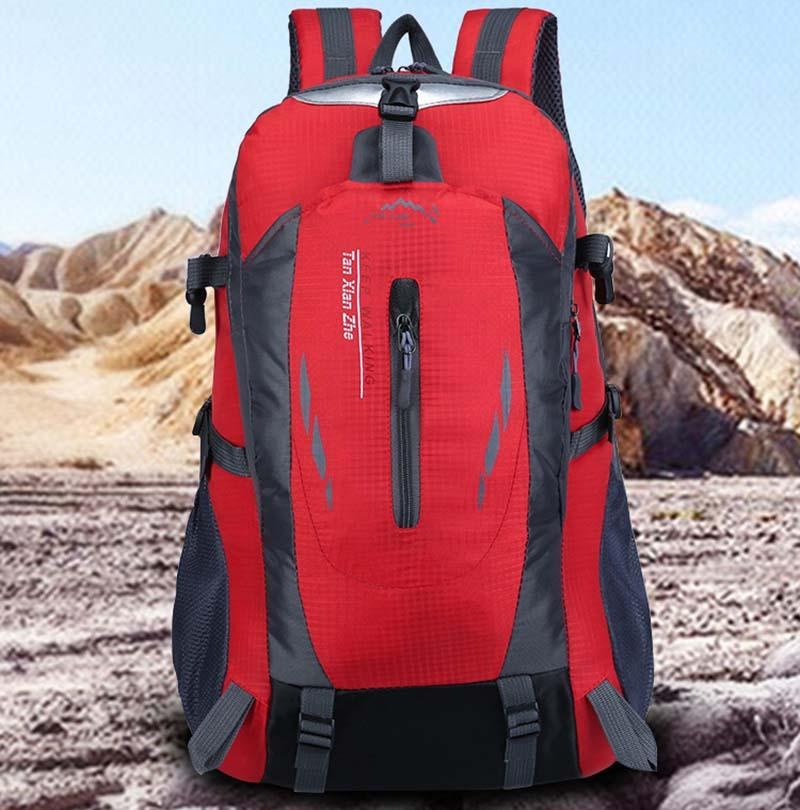 Arrampicata Borse Zaini unisex impermeabile Travel Pack sport all'aria aperta Racksacks multifunzionale di nylon Escursionismo Sport Campeggio Trekking Bag