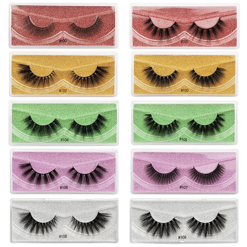 1Pair Faux 3D Mink Eyelashes Natural False Eyelashes Handmade Curly Mink Lashes Eyelash Extension Makeup Dramatic lashes