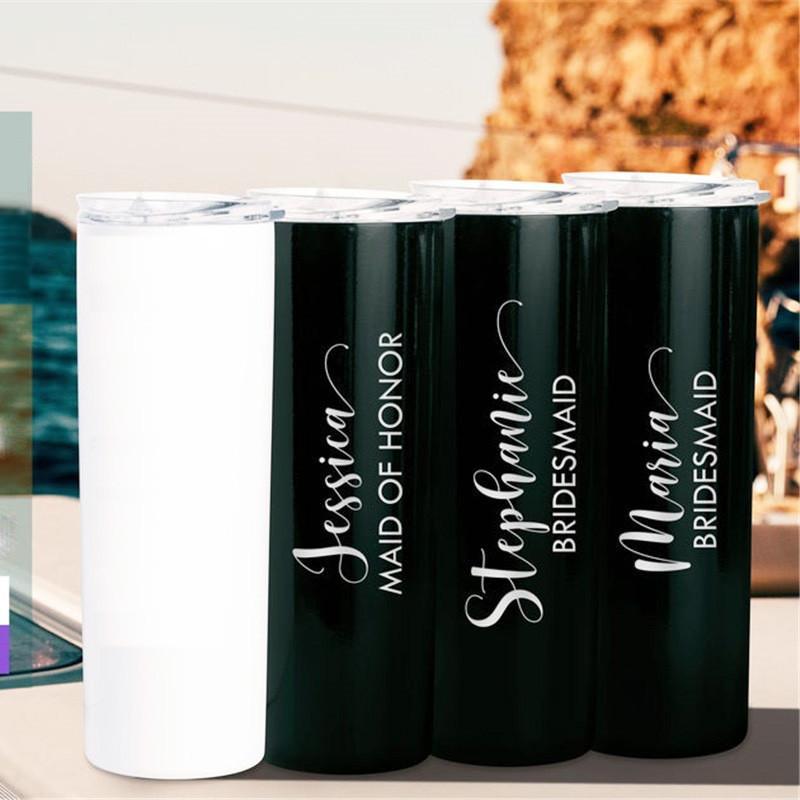 20 унций сублимации Blank Тощий массажер DIY нержавеющей стали кубок Double Wall Чашки автомобилей Кофе Пивная кружка