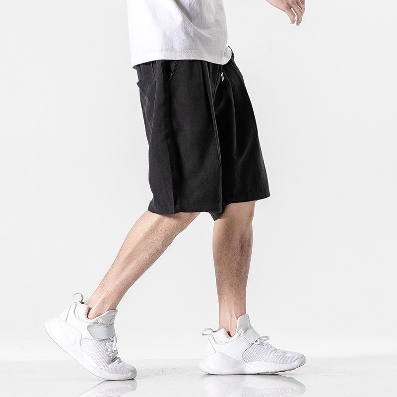 homens do desenhista calções casuais luxo verão 2020 maré tendência marca cinco pontos macacão selvagens soltos calças dos esportes dos homens 3 cores tamanho M-3XL-01
