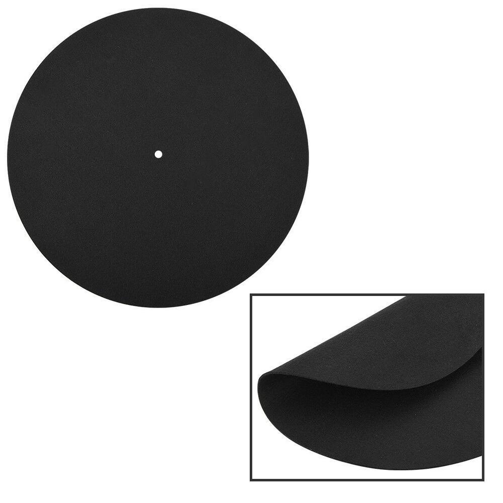LP Disc Accueil Remplacement Antistatique renouvelable rond et plat Vinyle Accessoires Turntable Enregistrement Pad ultra mince souple Mat
