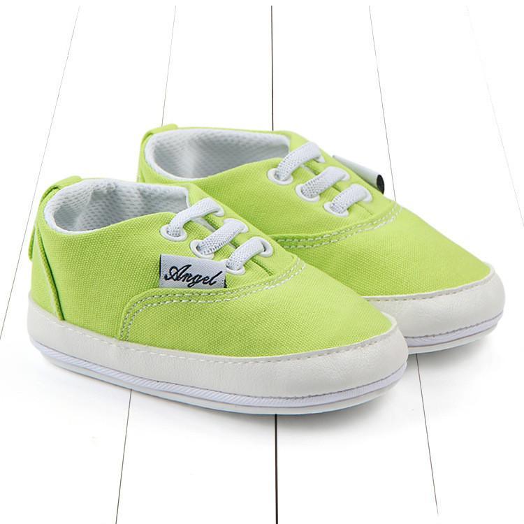 Loozykit transporte da gota New Classic Canvas bebê sapatos confortáveis de sola macia Walking Shoes antiderrapante com solado de borracha 0-1 anos de idade