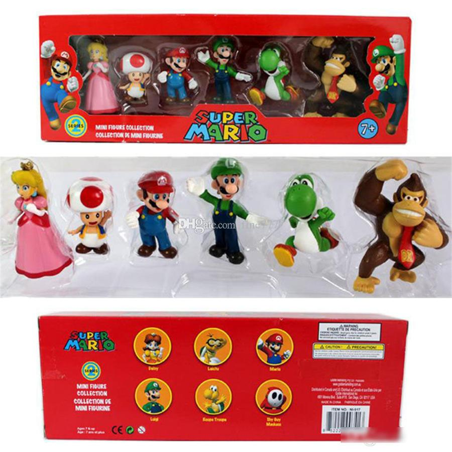 DONKEY KONG Super Mario Bros Bowser Luigi Koopa Yoshi Mario Car Toad Peach Princess Odyssey PVC Action Figure Model Dolls Toys