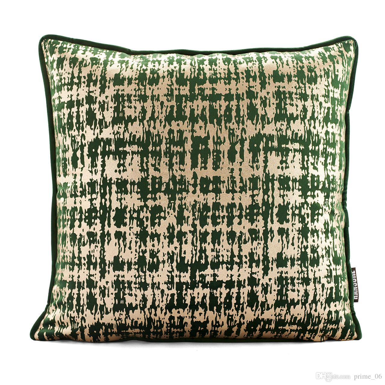 Supersoft Velvet Bronzing Pillowcase Cover Cushion Cover Home Decor Gold Stamp Pillow Decorative Throw Pillows Pillow Case For Home Sofa Pillowcases